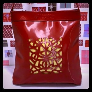 Like New GIVENCHY Parfums Red Perforated Tote Bag